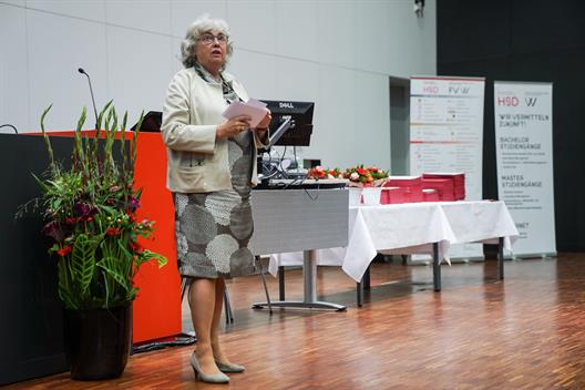 Dean Prof. Dr. Felicitas Albers welcomed the guests.