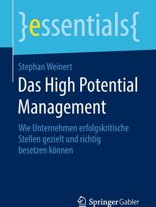 "Book title ""The High Potential Management""; Prof. Dr. Weinert"
