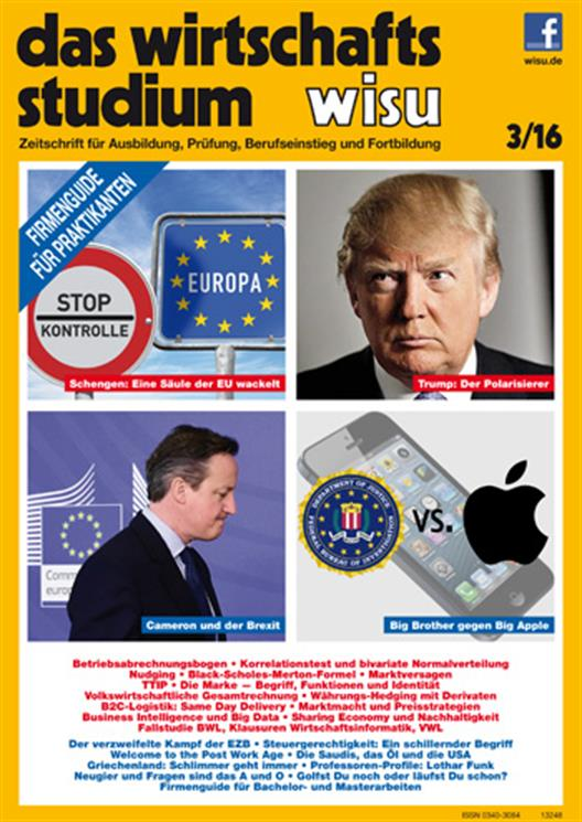 "We see the issue 3/16 of the magazine ""the business studies""."