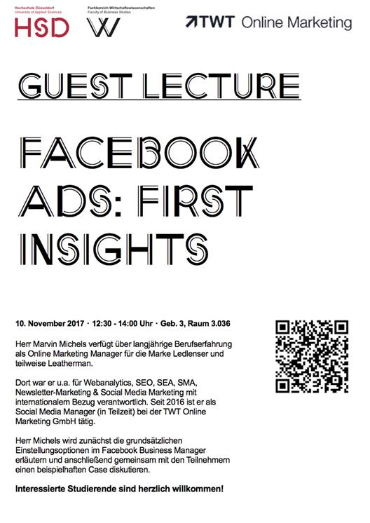 Guest lecture Facebook Ads: First Insights