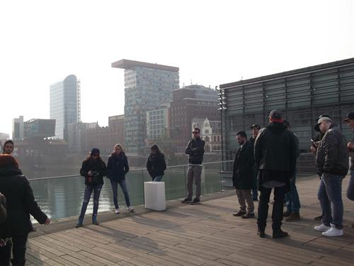 "The ""Medienhafen"" ​​was an architecturally attractive stop on the city tour."