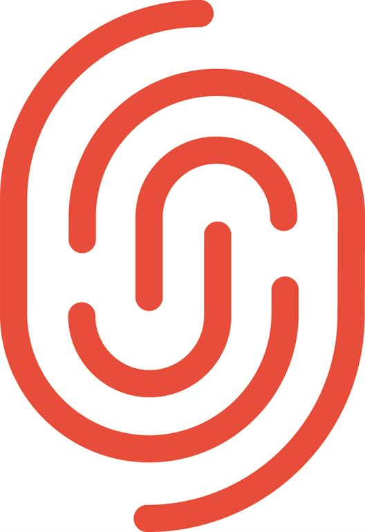 We see the red logo of the UDG United Digital Group. It has the form of a fingerprint.