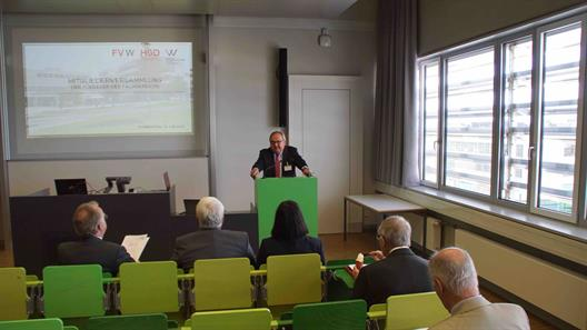 The chairman of the association, Mr. Werner M. Dornscheidt, opened the general meeting.