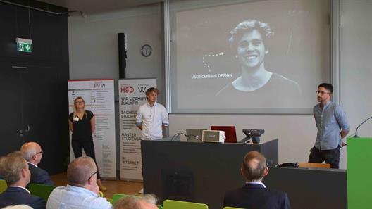 Presentation of the student team nominated for the prize for creative city tourism in NRW