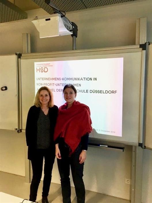 Guest lecture Simone Fischer, Head of the Department of Communications and Marketing as well as Press Officer of the University of Applied Sciences Düsseldorf