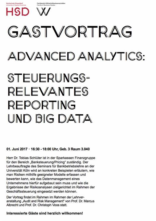 Gastvortrag Advanced Analytics; Dr. Tobias Schlüter
