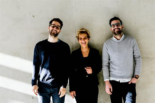 Prof. Dr. Claudia Gerhards with the cooperation partners Oguz Yilmaz and Lukas Schneider