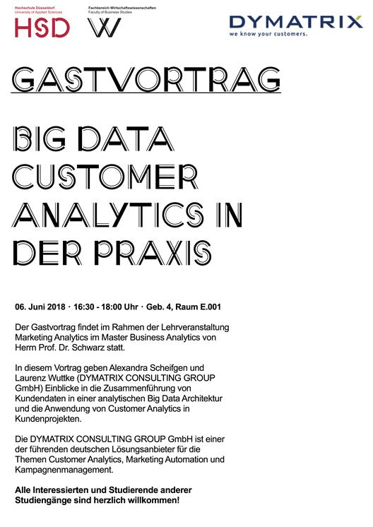 Gastvortrag Big Data Customer Analytics in der Praxis