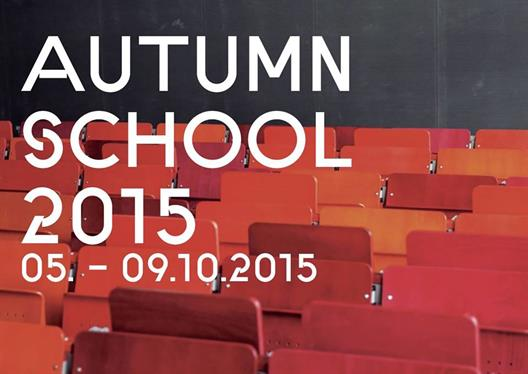 Autumn School 2015