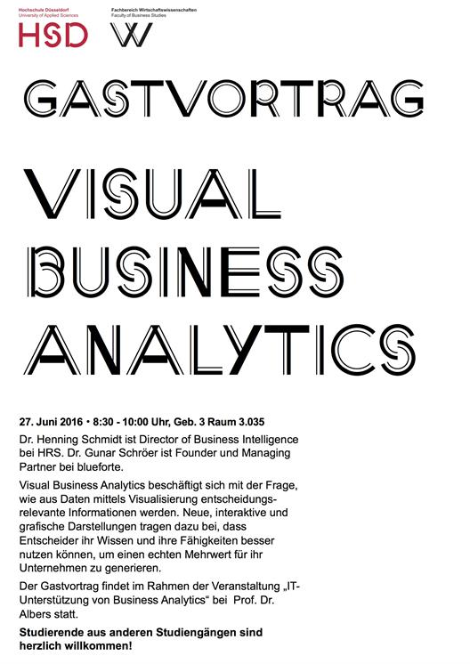 Guest lecture Visual Business Analytics